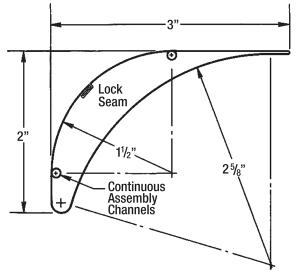 Aero Dyne Turning Vane Scale Drawing